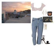 """sunset"" by milababy ❤ liked on Polyvore featuring Kristina Ti, Kane, Yves Saint Laurent, Aquazzura, Diego Percossi Papi, Marc Jacobs and Chanel"