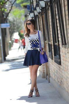 Ebaaaaaa final de semana chegou! Olha que gracinha esse look! Pra dar uma voltinha no shopping, pegar um cineminha, passear com as amigas! Amei! (Taiane Monteiro)