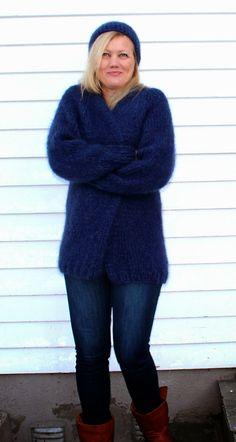 Strikkefeber:+Easy+jakke One size 8 m = 10 cm