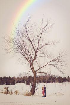 winter.. rainbow