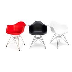 Poltrone design Eiffel chair Eames in acciaio e polipropilene