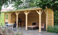 l shaped deck / shed