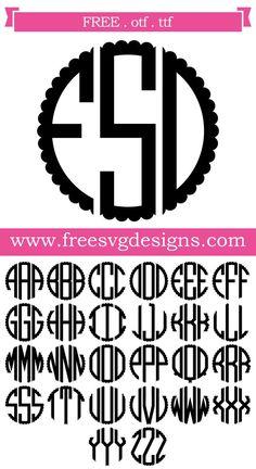 28 Ideas Sewing Machine Svg Monogram Fonts For 2019 Cricut Monogram Font, Free Svg Files Monogram, Monogram Template, Free Monogram, Monogram Decal, Monogram Frame, Monogram Design, Fonts For Monograms, Circle Monogram