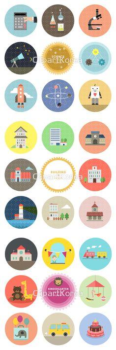#과학  #다양함  #아이콘  #원형  #일러스트 #빌딩 #유치원 #Science #Various #icon #circle #illustration #Building #Kindergarten