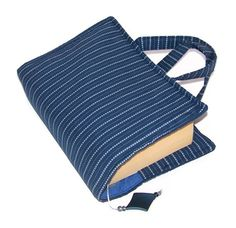 Fabric Journal Cover Bag PINSTRIPE BLUES £16.00