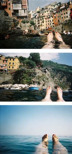 Aww this was totally me in Cinque Terre in 2005! Swimming in the lagoon & taking in all the beauty!