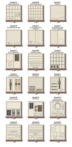 jewelry Drawer Layouts