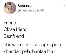 Friends Day Quotes, Best Friend Quotes Funny, Bff Quotes, Sarcastic Quotes, Jokes Quotes, Fact Quotes, Hindi Quotes, Memes, Funny Faces Quotes