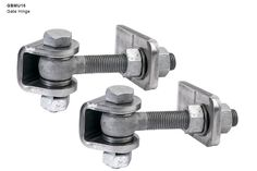 GBMU16 Regular Duty Gate Hinges - Click to enlarge!