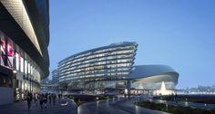 Aedas' Leaf-Shaped Sales Gallery Nears Completion in Shanghai
