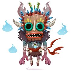 Forest Tiki  Art Direction, Character Design, Digital Art  Jordi Villaverde's Portfolio Barcelona, Spain