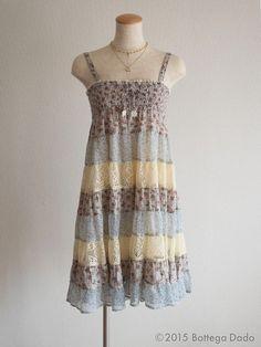 ARROW a.r.w Liberty Pattern Tiered Layer Camisole Dress Lolita Hime Gyaru Kawaii #ARROWarw #Tunic #SummerBeach