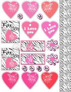 Пустые теги элементов милый день Валентина, наклейки, кнопки на w — Стоковое изображение #100353220