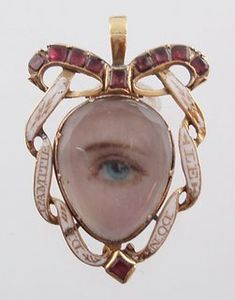 Eye Miniature Pendant ~ Georgian  c. 1790