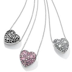 So many Brighton mom friends have their hearts set on something sparkly for Mother's Day. How about our Anatolia heart necklace? It now comes in silver or pink and reverses from crystals to a fine filigree.