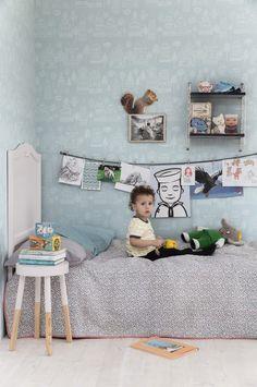 〚 New doze of wallpaper inspiration by Sandberg 〛 ◾ Photos ◾Ideas◾ Design Kids Room Wallpaper, Wall Wallpaper, Baby Bedroom, Kids Bedroom, Cool Kids Rooms, Bleu Pastel, Ideas Para Organizar, Color Turquesa, Kid Decor