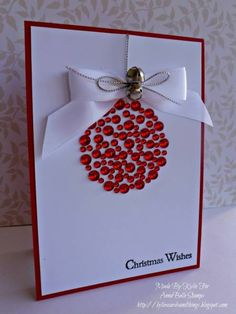 Christmas Cards - Plus could do Christmas tree made from snowflakes or gems