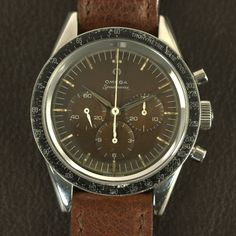 Stunning Vintage Omega Speedmaster CK2998-1 Chocolate Dial In Stainless Steel Circa 1959 - https://omegaforums.net Omega Speedy Speedmaster Speedmasterpro Speedypro Menswear Mensfashion Wristshot Womw Wruw Horology Classic Timeless Watches Watchporn Fashion Style Preppy Montres Uhren Orologio Chrono Chronograph Cal321 Calibre321 Vintage Moon Moonwatch NASA Space