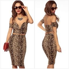 Find More Dresses Information about Deep V Neck Hollow Out Short Sleeve Off The Shoulder Sexy Dress Knee Length Club Party Two Piece Leopard Dress,High Quality dress islam,China dress collection Suppliers, Cheap dress up black dress from Fashion things store on Aliexpress.com