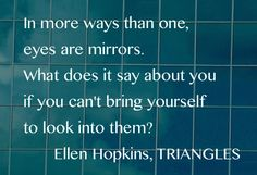 Bonus Quote of the Day, from TRIANGLES