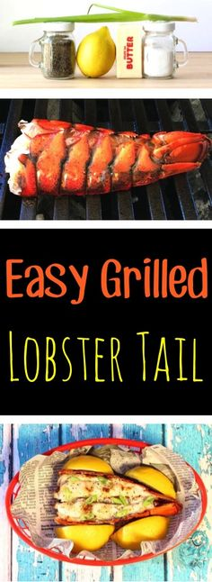 Lobster Tail Recipe Grilled to perfection!  Such an EASY way to grill up your lobster tails in just 15 minutes... perfect for special occasions or just an epic dinner!  Just 4 ingredients!!