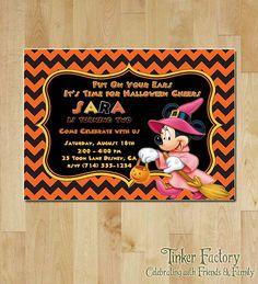 Minnie Mouse Halloween Party / Birthday Party Invitation - Printable - Mickey - Minnie - Halloween / Birthday Party Invite - Digital File
