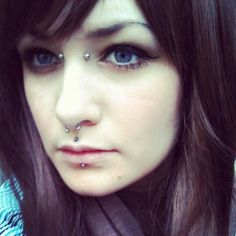 Cyber bites, septum, and bridge piercing-- this is exactly what I want, plus double nostrils