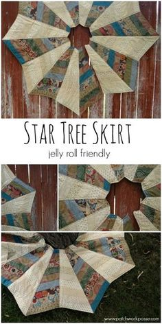 Star Tree Skirt - Jelly Roll Friendly -