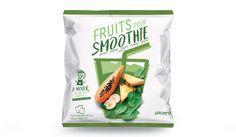 Fruits for smoothie pineapple, banana, papaya, spinach