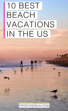 Looking to book a beach vacation in the US? Pin this post for ideas on where to go once you're ready to book! If you're looking to book a beach getaway in the US, look no further! I've rounded up the top 10 best beach vacations in the US. Us Beach Vacations, Beach Vacation Tips, Vacations In The Us, Couples Vacation, Beach Trip, Beach Fun, Dream Vacations, Vacation Ideas, Bora Bora