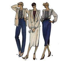 80s Sewing Pattern Jones New York Quick Blouse by HoneymoonBus, $7.99
