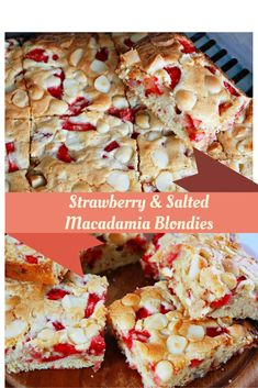 These strawberry and salted macadamia blondies are nothing less than divine!!!!