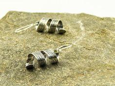 silver birch bark earrings by LaPetiteMaisonBijoux