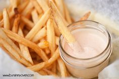 Fry Sauce - sweet, creamy, and tangy...perfect for dipping burgers and fries! Freddy's Copy Cat #recipe