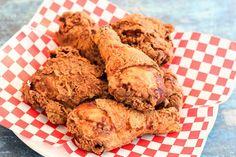 Texas Fried Chicken #Fried #buttermilk #Texas #chicken #justapinchrecipes Texas Fried Chicken, Buttermilk Fried Chicken, Fried Chicken Recipes, Chicken Bacon, Chicken Gravy, Roasted Chicken, Pork Recipes, Recipies, Healthy Stuffed Zucchini