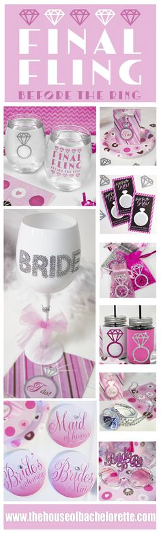 This Super Pretty Bachelorette Party Theme will thrill Brides who want Bachelorette Party Ideas that won't make grandma blush :)