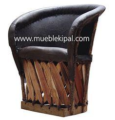 Butaca silla Equipal de piel para restaurante Tradicional