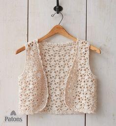Seashell Crochet Vest - Patterns   Yarnspirations