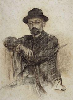 Miguel de Unamuno. (Ramón Casas, ~1904, Barcelona, MNAC)
