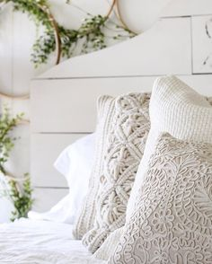 For the bed or a corner chair. White Cottage, White Farmhouse, Rose Cottage, Farmhouse Chic, Farm Cottage, Home Bedroom, Bedroom Decor, Bedrooms, Master Bedroom