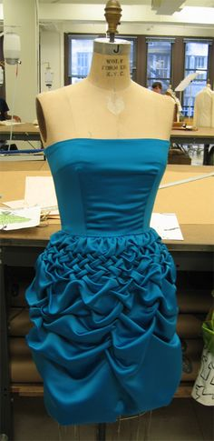 Peacock Blue Basket Dress