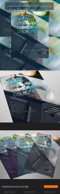 Stylish Fashion Poster Flyer Template Fashion posters, Flyer - fashion design brochure template