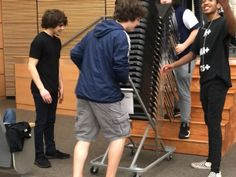 Me and the boys trying to lift chairs in one go