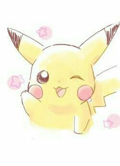 Pikachu, cute; Pokémon
