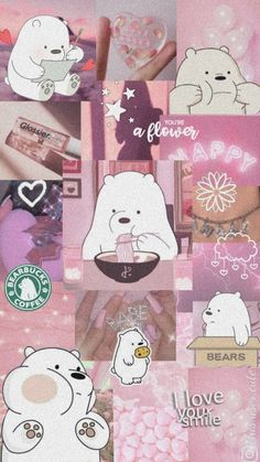 Pinky Wallpaper, Cute Panda Wallpaper, Cute Pastel Wallpaper, Cartoon Wallpaper Iphone, Bear Wallpaper, Cute Disney Wallpaper, Aesthetic Pastel Wallpaper, Cute Wallpaper Backgrounds, We Bare Bears Wallpapers