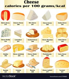 Set of different kinds of cheese Royalty Free Vector Image - Types of Cheese Gouda, Art Du Vin, Wine Party Appetizers, Feta, Cheese Triangles, Fondue, Kinds Of Cheese, Cheese Types, Charcuterie And Cheese Board