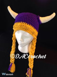 A personal favorite from my Etsy shop https://www.etsy.com/listing/475989786/crochet-pattern-viking-hat-with-braids