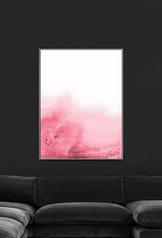 Pink Watercolor Printable | Millennial Pink Print | Blush Pink Wall Art | Millennial Pink Art | Printable Pink Painting | Abstract Art  PLEASE NOTE:  This listing is an INSTANT DIGITAL DOWNLOAD SET OF THIS PRINT. No physical artwork will be sent. Once purchased, you will instantly