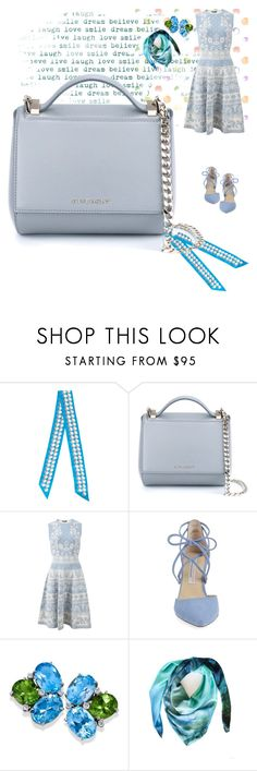 """""""Dreamy bluuuuuue"""" by rhaxkido ❤ liked on Polyvore featuring Hermès, Givenchy, Alexander McQueen, Kristin Cavallari and Leona Lengyel"""