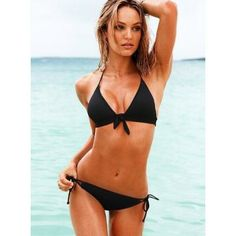 Beach Sexy Tie-front Triangle Top bathing suit